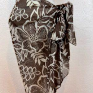 Nylon Floral Mesh Wrap Beach Skirt Sarong